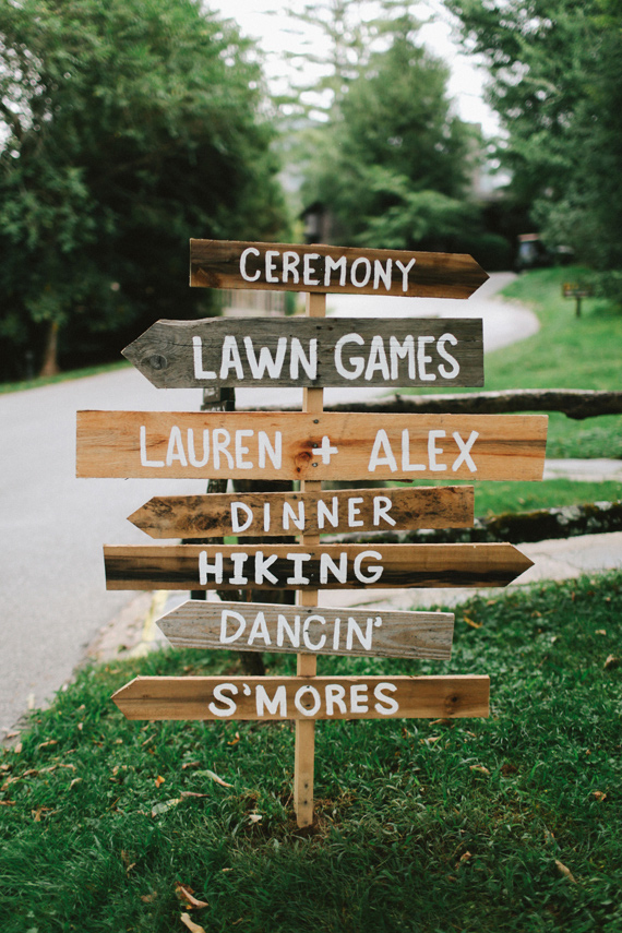 Picture Of rustic mountain wedding with peach touches  3