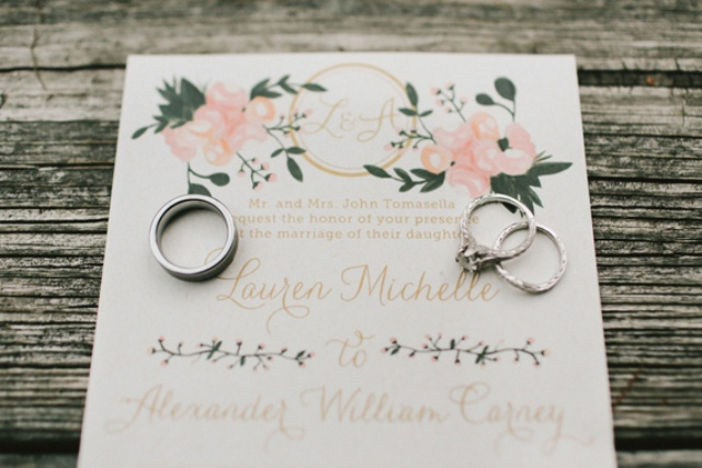 Picture Of rustic mountain wedding with peach touches  5