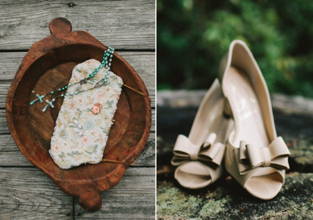 Picture Of rustic mountain wedding with peach touches  6