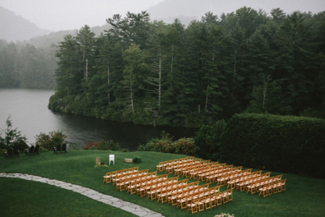 Picture Of rustic mountain wedding with peach touches  8