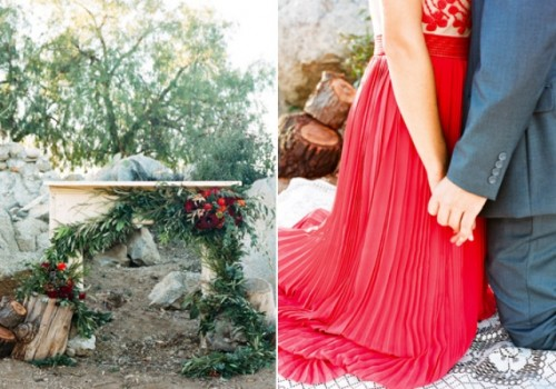 Rustic Ruby Red Engagement Shoot