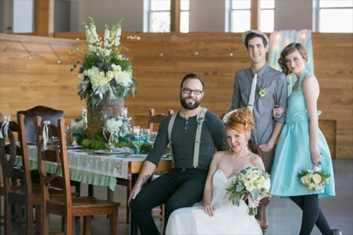 Rustic Winter Wedding Shoot With Shades Of Blue And Lime