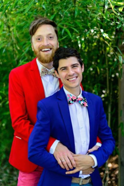 Same Sex Eye Popping Forest Wedding