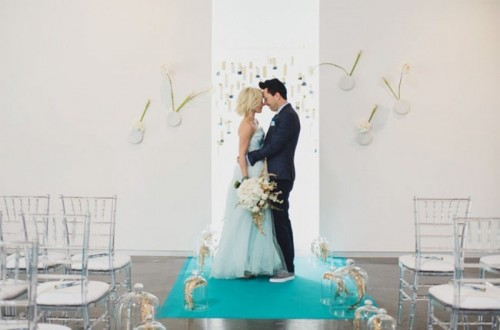Blue, Gold And White Fabulous Wedding Inspirational Shoot