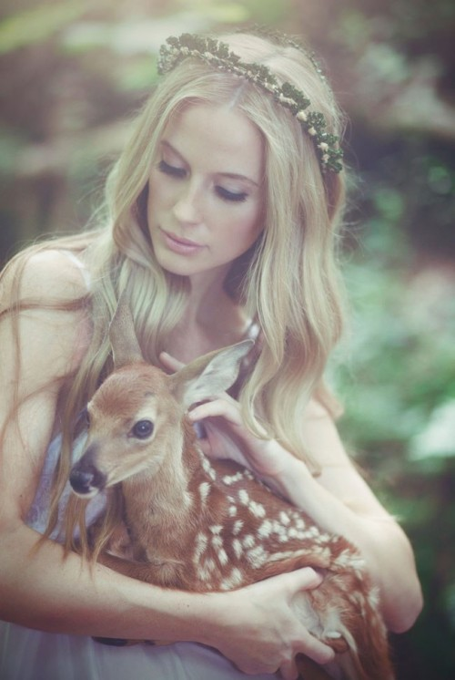 'Shadows Of My Heart Bridal Shoot' With A Fawn
