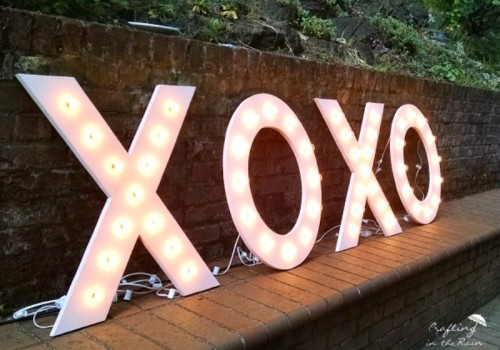 Shiny And Cute DIY Marquee Letters For Your Wedding