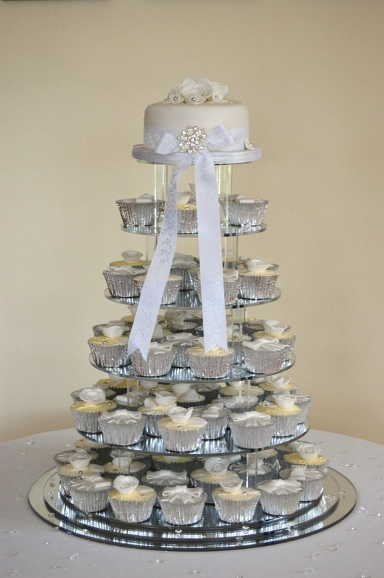 Picture Of Silver And White Winter Wedding Inspiration