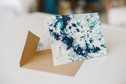 Simple And Creative DIY Splatter Paint Notecards