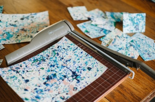 Simple And Creative Splatter Paint Notecards