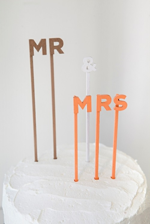 Simple And Cute Diy Custom Wedding Cake Topper Sayings