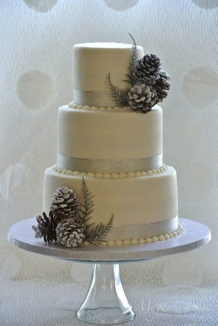 Picture Of simple and natural pinecone wedding ideas  2
