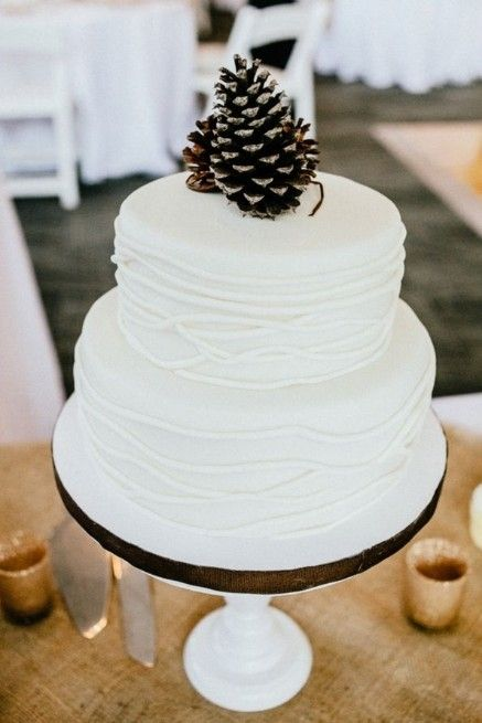 Picture Of simple and natural pinecone wedding ideas  30