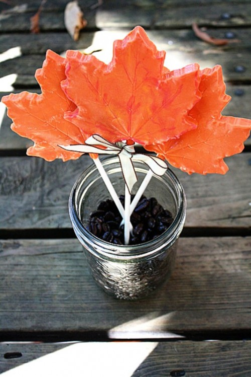 Simple And Tasty Diy Chocolate Maple Leaf Lollipop Favors