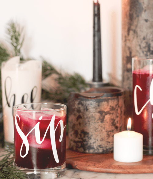 Simple Yet Creative DIY Duck Tape Calligraphy Cocktail Glasses
