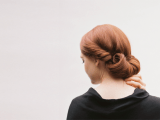 simple-yet-elegant-diy-rolled-chignon-wedding-hairstyle-1