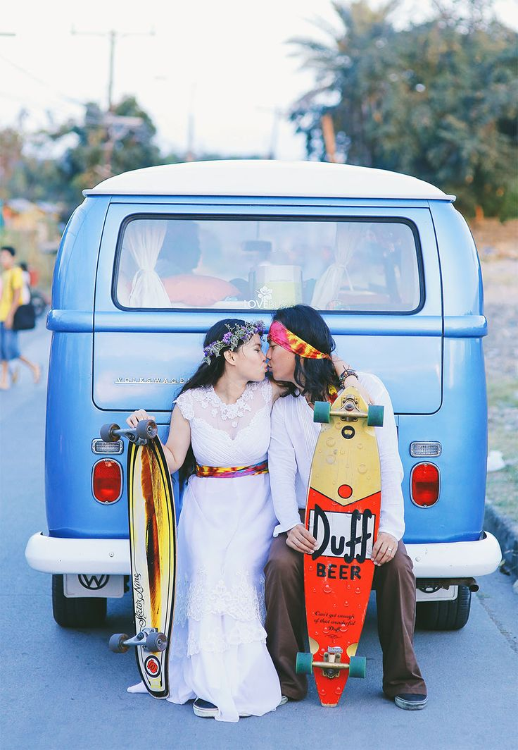 Picture Of skateboarding hippie wedding in the philippines  10