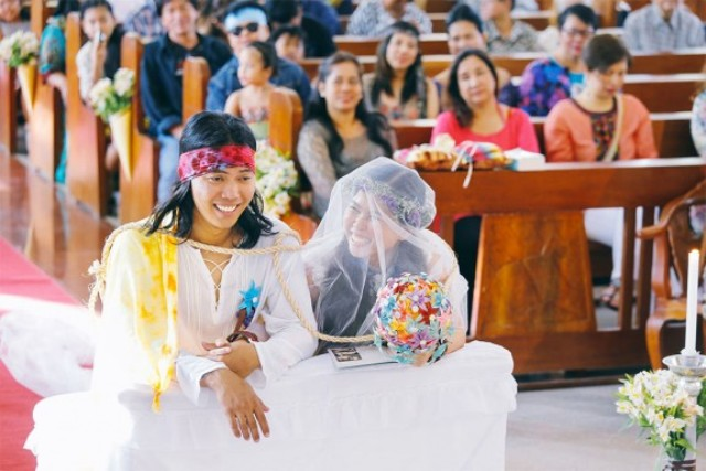 Picture Of skateboarding hippie wedding in the philippines  3