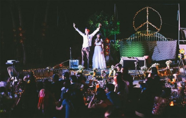 Picture Of skateboarding hippie wedding in the philippines  7