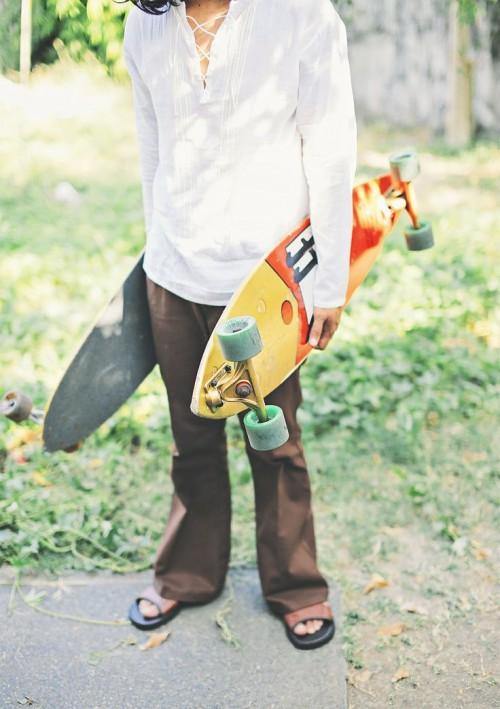 Skateboarding Hippie Wedding In The Philippines