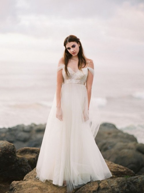 Soft And Romantic Elizabeth Dye Wedding Dresses