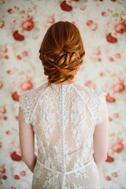 Sophisticated DIY Low Twisted Bridal Hair Updo
