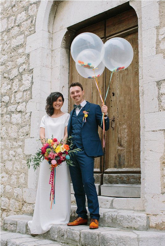 Picture Of south france colorful wedding inspirational shoot  17