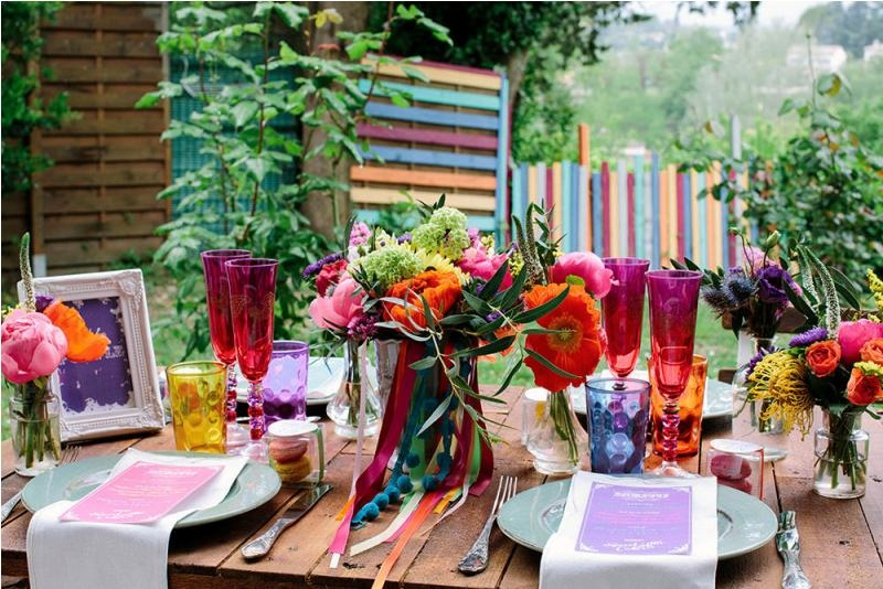 Picture Of south france colorful wedding inspirational shoot  19
