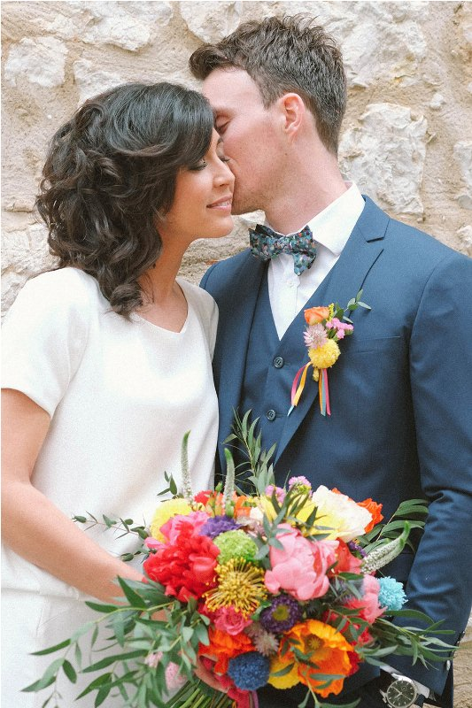 Picture Of south france colorful wedding inspirational shoot  6