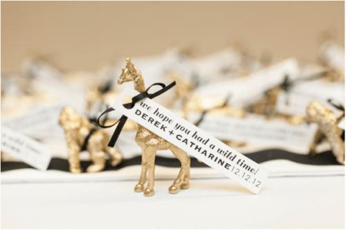 DIY Gold Animal Favors (via yourmoderncouple)