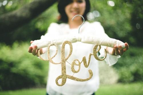 DIY Love Hanger (via greenweddingshoes)