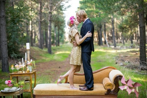 Splendid And Playful Gold Wedding Inspirational Shoot