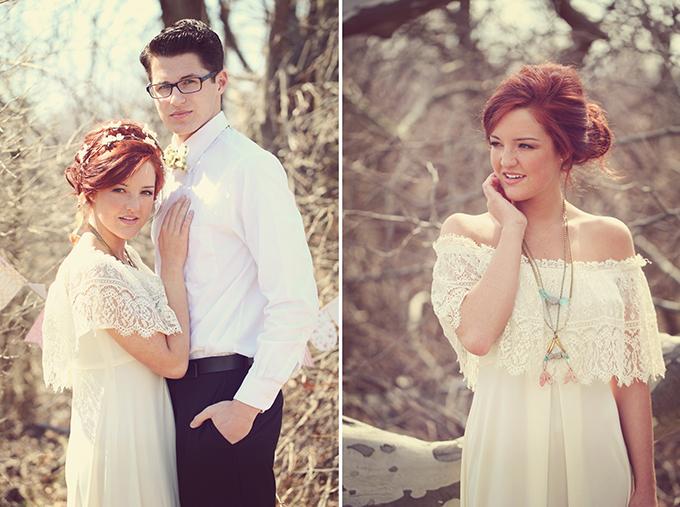 Spring Vintage Bohemian Wedding Shoot