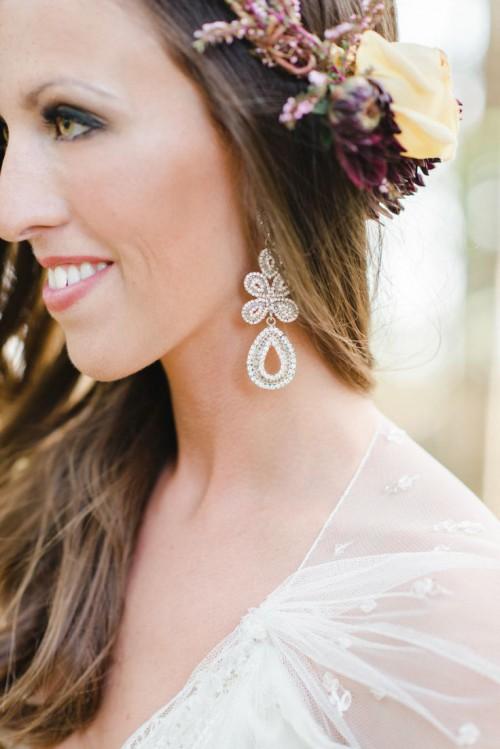 Statement Earrings Wedding Trend: 28 Ideas