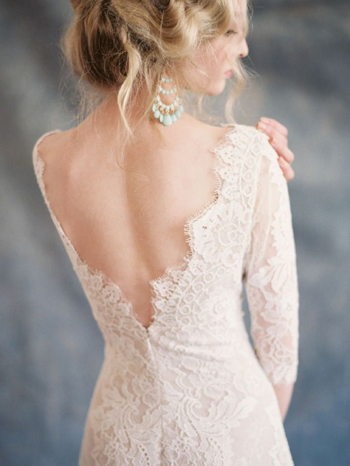 Picture Of statement earrings wedding trend ideas  26