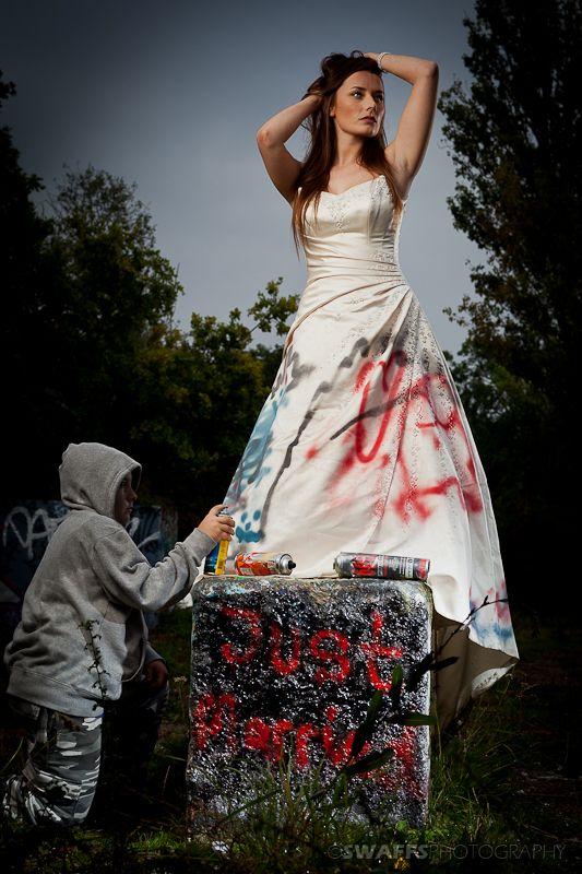 Picture Of Trash The Wedding Dress Shoot Feltham Uk