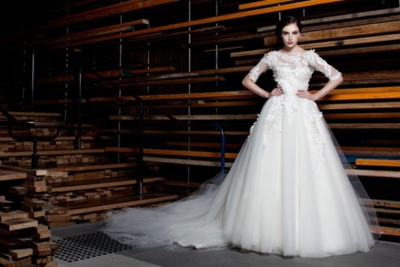 Picture Of stunning avant garde wedding dresses collection 2015 by rosalynn win  8