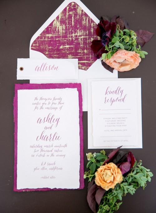 Stunning Berry Hued Wine Country Wedding Inspiration