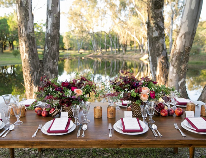 Picture Of Stunning Berry Hued Wine Country Wedding Inspiration 9