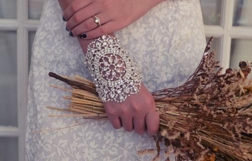 Stunning DIY Rhinestone Bracelet