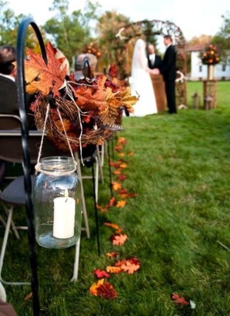 37 Stunning Fall Wedding Aisle Dcor Ideas Weddingomania