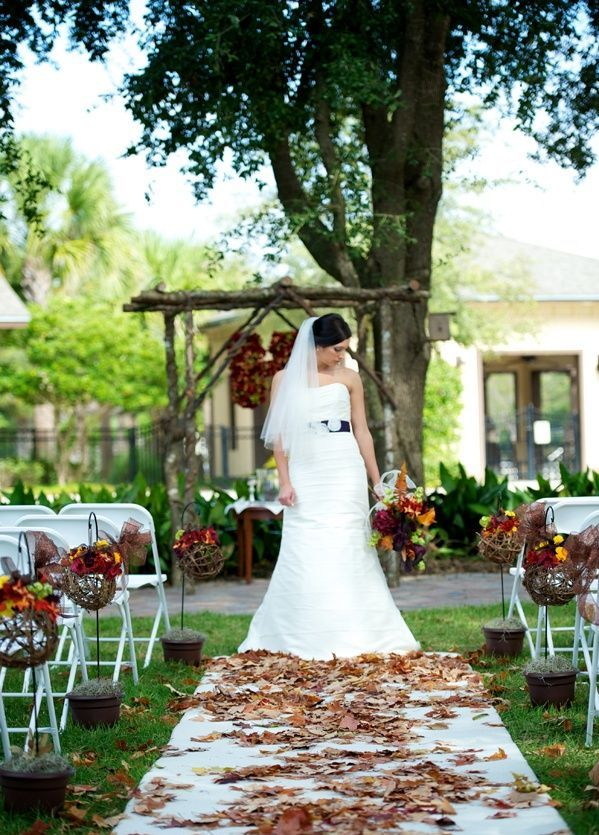 37 stunning fall wedding aisle dcor ideas weddingomania stunning fall wedding aisle decor ideas junglespirit Images