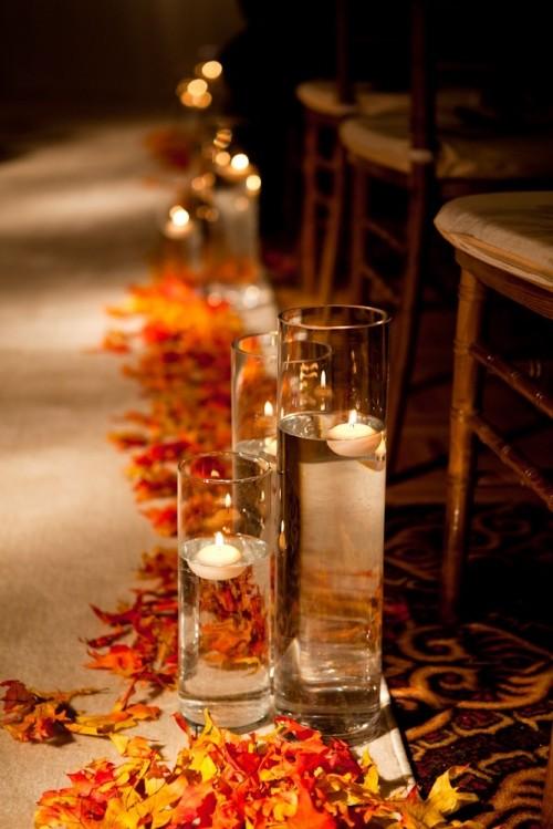 37 Stunning Fall Wedding Aisle D 233 Cor Ideas Weddingomania