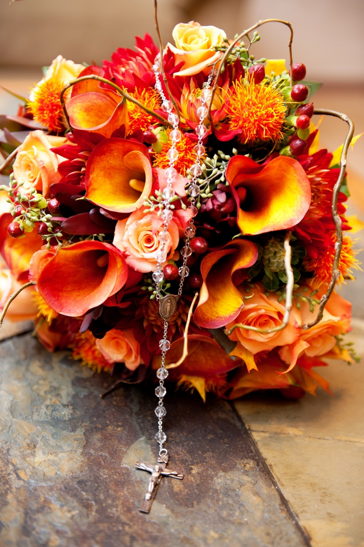 Fall Wedding Bouquets Bridesmaids : Stunning fall wedding bouquets weddingomania
