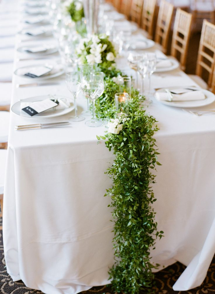 Of stunning greenery wedding table runners 26 picture of stunning greenery wedding table runners 26 junglespirit Images