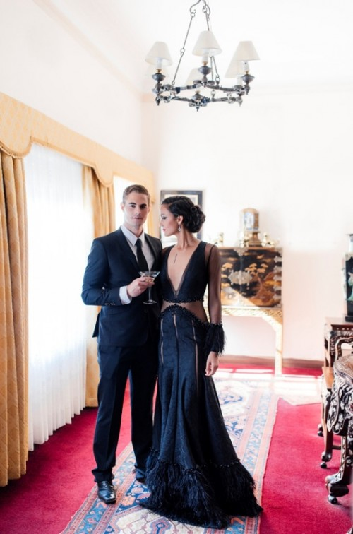Stunning James Bond 'Spectre' Wedding Inspiration