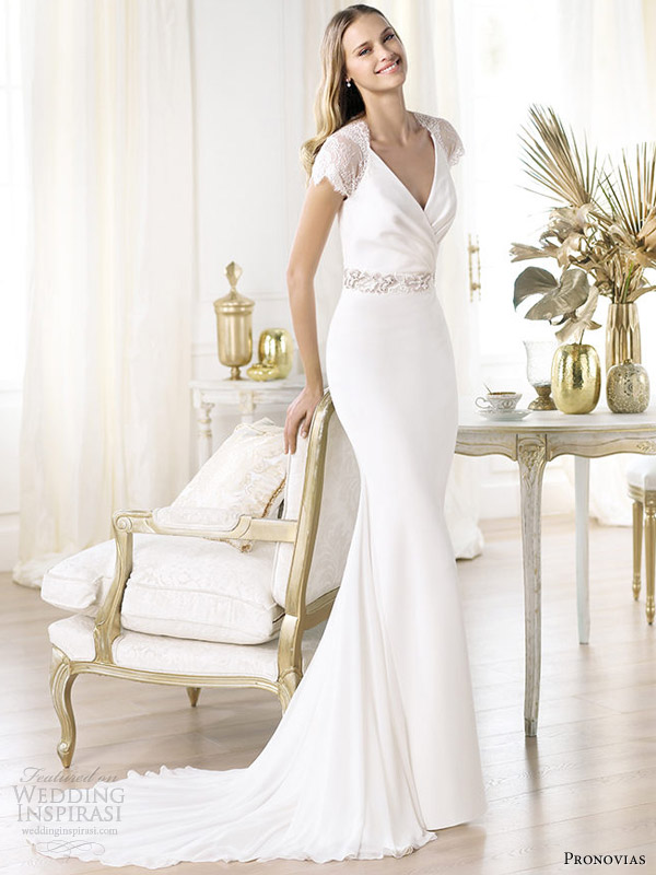 Picture of stunning pronovias 2014 wedding dresses pre collection junglespirit Image collections