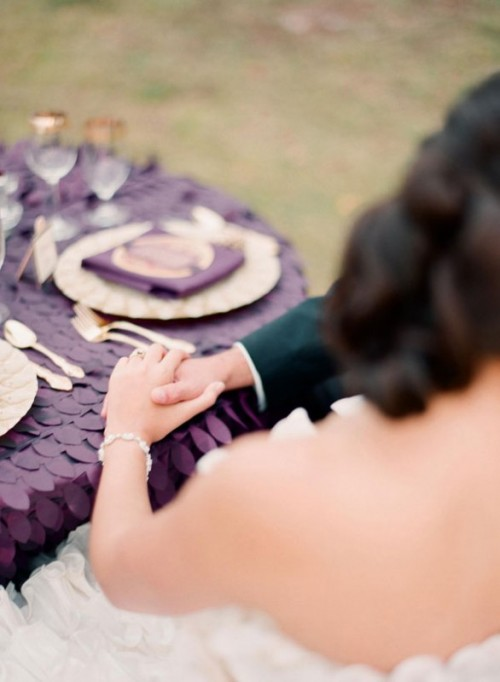 Stunning Purple, Gold And Ivory Wedding Ideas