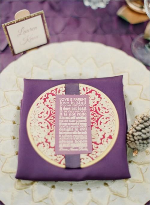 Stunning Purple Gold And Ivory Wedding Ideas