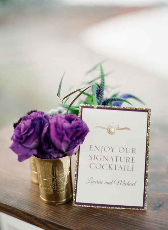 Picture Of Stunning Purple Gold And Ivory Wedding Ideas