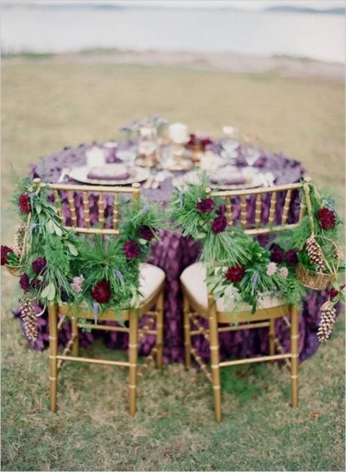 Stunning Purple Gold And Ivory Wedding Ideas Weddingomania